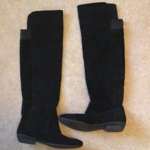 Nine West black suede Over the knee boot